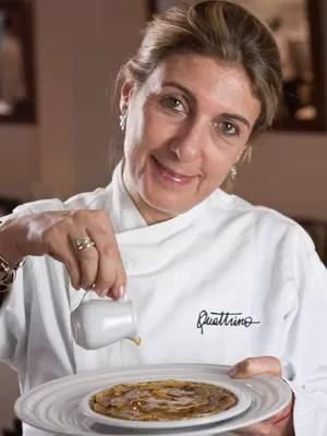 Quattrino Panqueca: a Chef Mary Nigri prepara a panqueca de quinoa, um dos itens do cardápio Glúten Free (Foto: Rafael Wainberg/Divulgação)