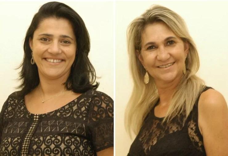Vereadoras Tatiane Maia e Rita Xavier foram afastadas dos cargos após troca de ofensas nas redes sociais (Foto: Câmara de Itapuí / Divulgação )
