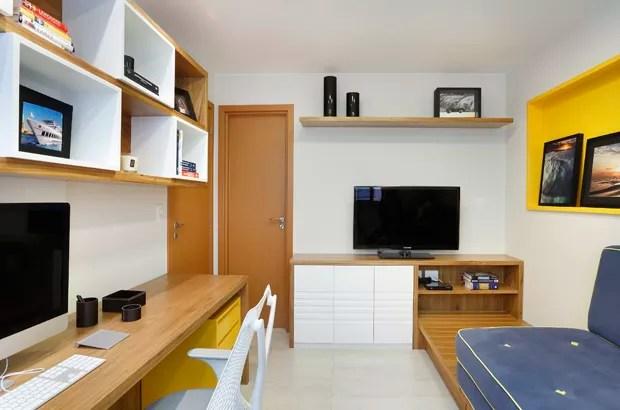 Decorao de apartamento tem base neutra e muita