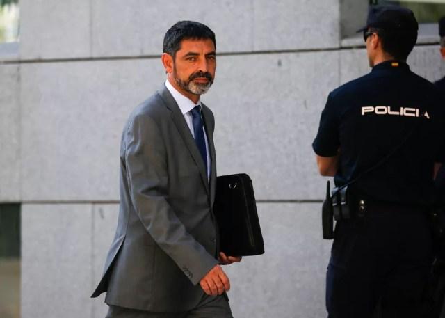 Josep Lluis Trapero durante julgamento na Suprema Corte, em Madri (Foto: Javier Barbancho/Reuters)