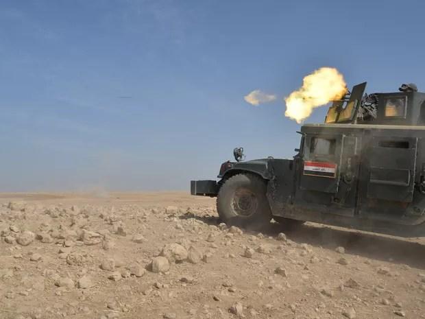 Forças militares do Iraque atacam Estado Islâmico em Mosul (Foto: REUTERS/Stringer )