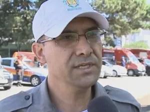 Sargento lamentou a morte do colega durante o trabalho (Foto: RBS TV/Reprodução)