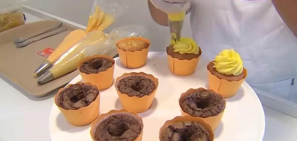 Oficina de cupcakes é oferecida pela Senac em Campina Grande (Foto: Reprodução/TV Globo)