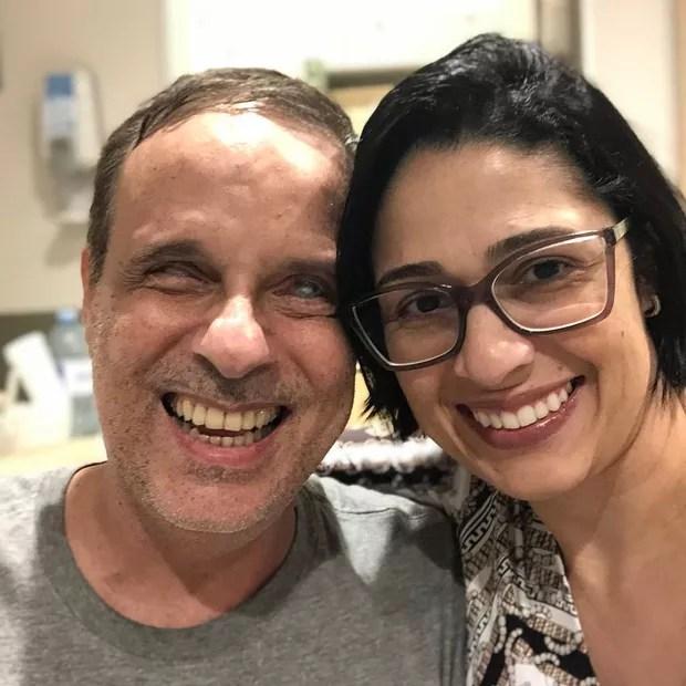 Dudu Braga with his wife, Valeska (Photo: Reproduction/ Instagram)