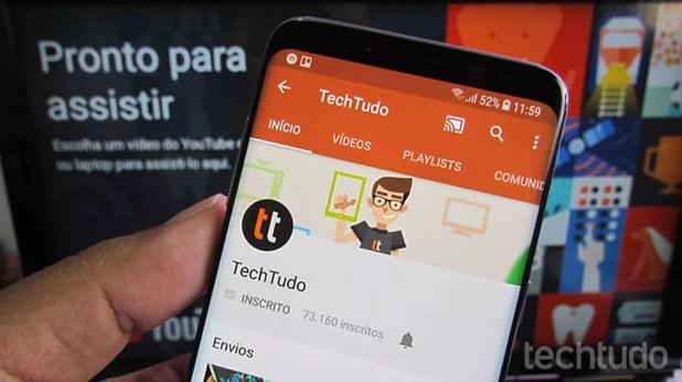 Para transmitir do celular para o Chromecast basta clicar no ícone de Cast — Foto: Paulo Alves/TechTudo