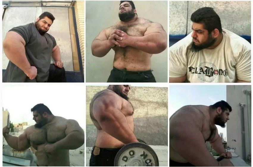 O iraniano é viciado em malhação e já levantou 175 quilos
