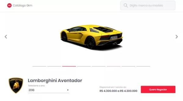 Lamborghini modelo Aventador: R$ 4,3 milhões no Brasil (Foto: Reprodução / Instagram)