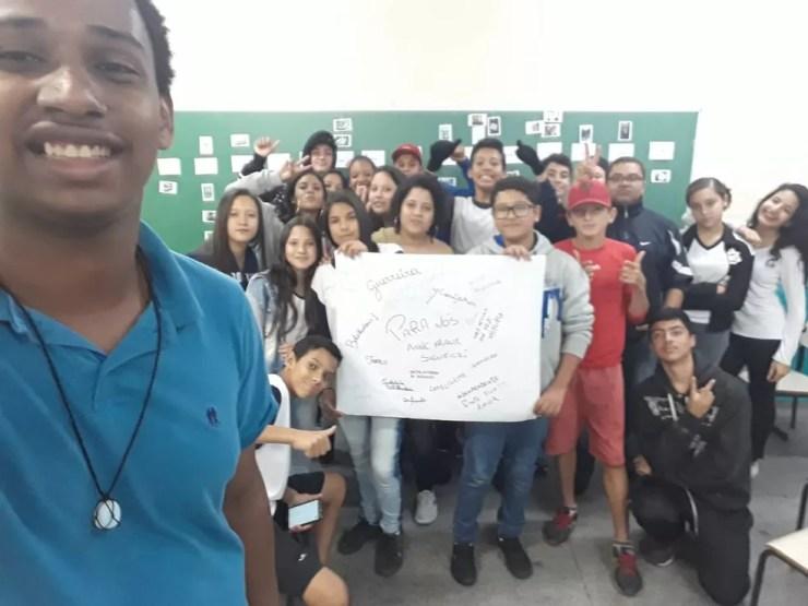 Projeto social dos voluntários de Cabreúva promove reflexões sobre os perigos da discriminação (Foto: Giovana Vitoria dos Santos/Arquivo pessoal)