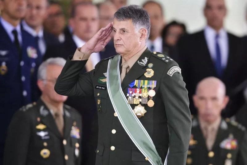 General Edson Leal Pujol, comandante do Exército — Foto: Valter Campanato/Agência Brasil