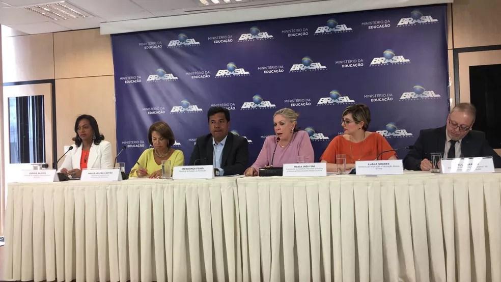 MEC apresenta resultado do Enem 2017 (Foto: Gabriel Luiz/G1)