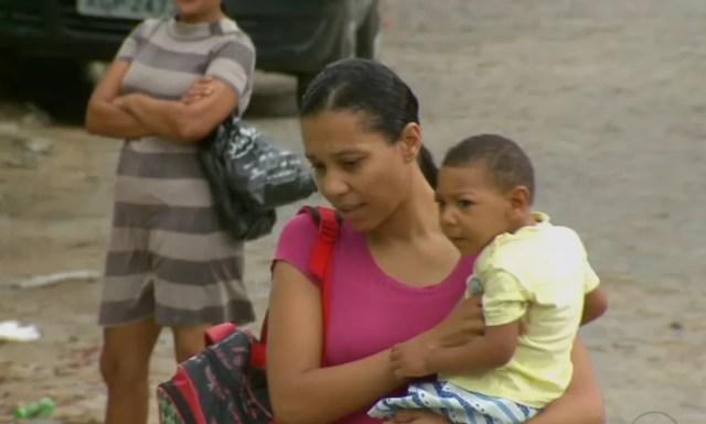 Kássia Consuelo Carneiro é mãe de Davi, que nasceu com microcefalia (Foto: Reprodução/TV Globo)