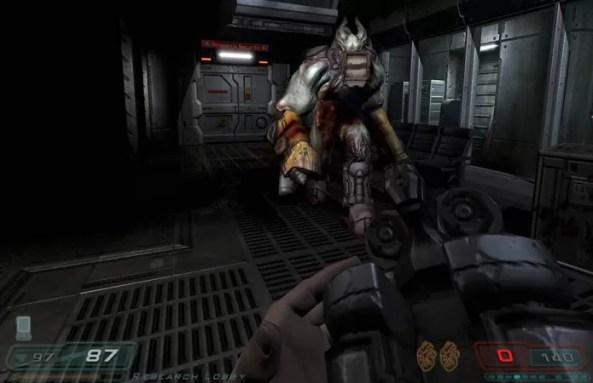 Doom 3: Resurrection of Evil manteve o estilo de Doom 3 mas consertou alguma coisas (Foto: Reprodução/GameFaqs)