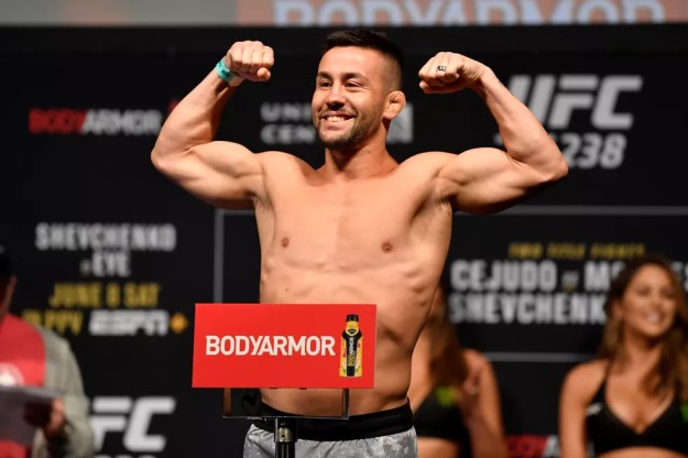 Pedro Munhoz luta neste sábado contra José Aldo no UFC 265 — Foto: Jeff Bottari/Getty Images