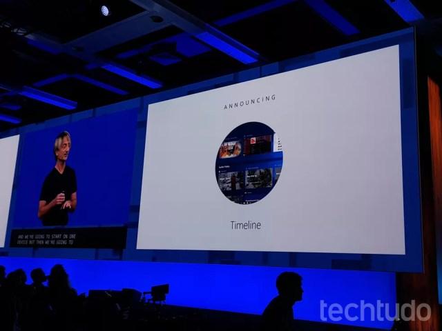 O recurso Timeline permite um alto nível de sincronia entre o Windows 10 e seus apps com outros sistemas operacionais (Foto: Thássius Veloso/TechTudo)