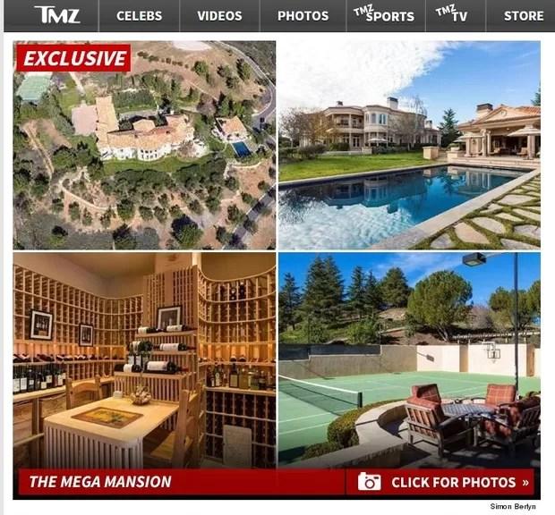 Nova mansão de Britney Spears (Foto: Reprodução)