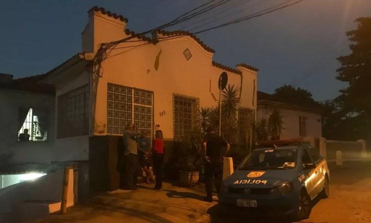 Casa onde o corpo de Luana foi encontrado, em Laranjeiras (Foto: Matheus Rodrigues/G1)