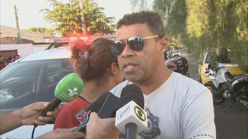 O motorista Waldir Nery, pai da adolescente morta em Araraquara — Foto: Reprodução EPTV