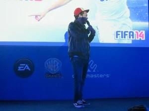 Marcelo D2 participou de evento da Warner Games e afirmou que terá canção em 'Fifa 14' (Foto: Gustavo Petró/G1)