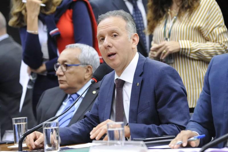 O deputado Aguinaldo Ribeiro (PP-PB) durante a instalação da comissão especial que analisará a reforma tributária — Foto: Cleia Viana/Câmara dos Deputados