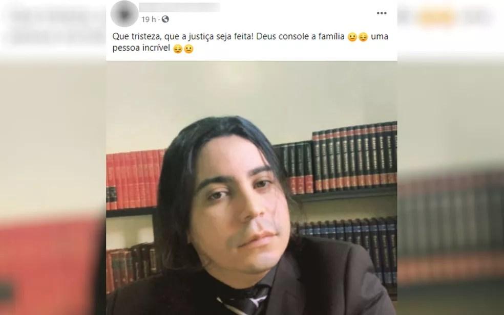 Amigos lamentam morte de professor Fabiano Rabêlo — Foto: Reprodução/Facebook