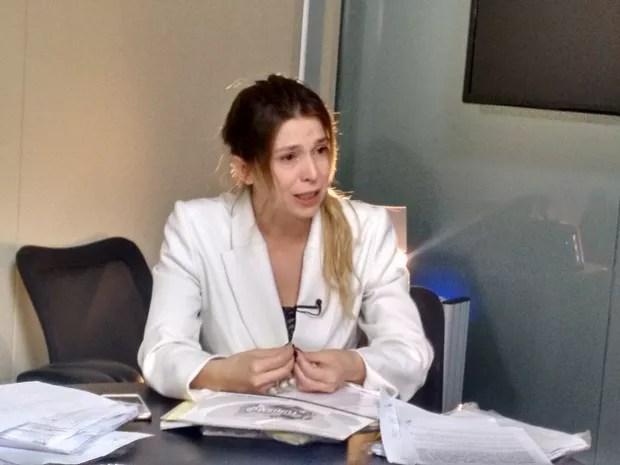 Empresária Patrícia Rodrigues de Morais diz que 'quebrou', admite dívida de R$ 300 mil, mas nega golpes em Goiás (Foto: Sílvio Túlio/G1)