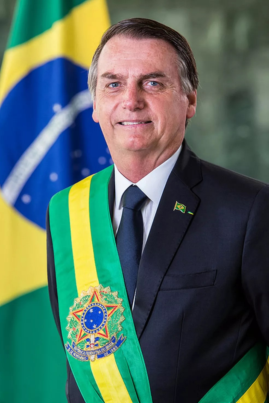Retrato oficial de Jair Bolsonaro como presidente da República — Foto: Alan Santos/PR