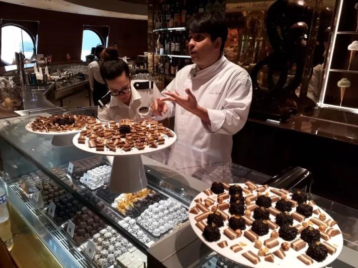Navio MSC Seaview possui 11 restaurantes diferentes — Foto: Alexandre Lopes/G1