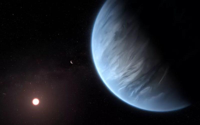 Hubble detecta vapor d'água em planeta na zona habitável de uma estrela — Foto: ESA/Hubble, M. Kornmesser