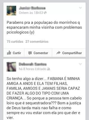 Amigos de mulher espancada protestaram nas redes sociais (Foto: Reprodução / Facebook)