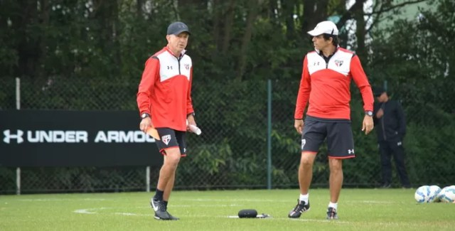 Juan Carlos Osorio Milton Cruz São Paulo (Foto: Site oficial do SPFC)