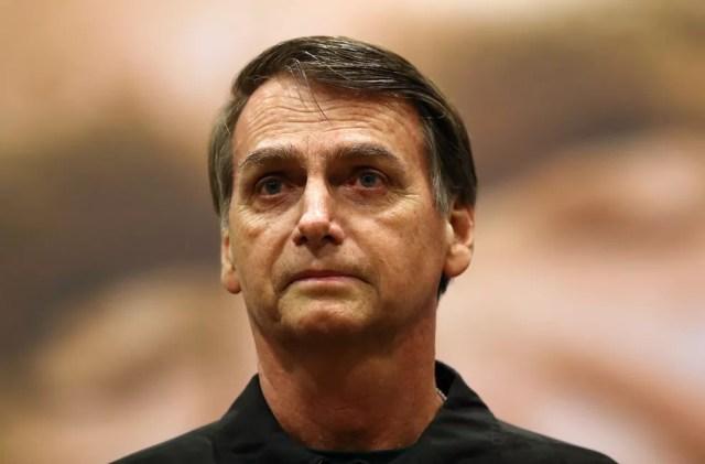 Bolsonaro durante evento de campanha do PSL, no Rio de Janeiro, na última quinta-feira (11) — Foto: Reuters / Ricardo Moraes
