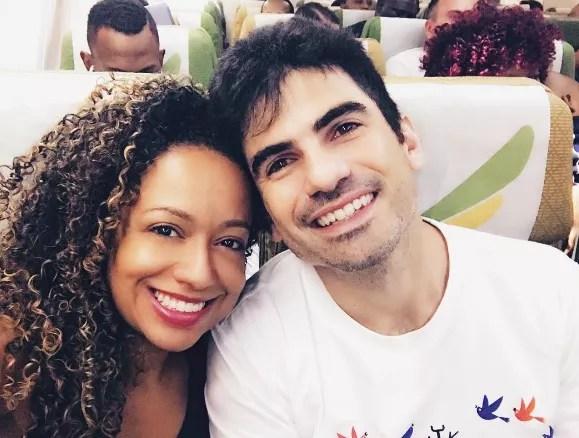Aretha Oliveira  com o marido, Sebastian Goldberg (Foto: Reprodução)