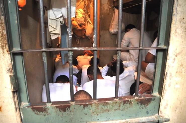 Detentos na Papuda em 2013 (Foto: Ministério Público/Divulgação)