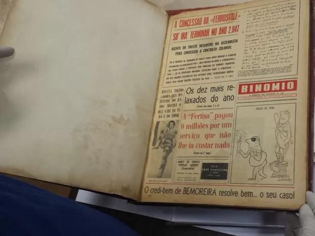 Binômio foi o início da carreira de nomes renomados como Fernando Gabeira e  Ziraldo, que assina a charge desta página (Foto: Thais Pimentel/G1)