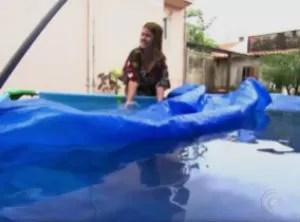 Moradores de Itu têm investido em técnicas para evitar a crise hídrica de 2014 (Foto: Reprodução/TV TEM)