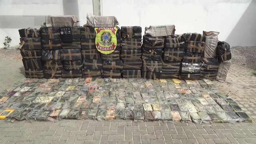 Em novembro de 2018, PF apreendeu 1.391 quilos de cocaína dentro de um galpão em Parnamirim  — Foto: Polícia Federal/Divulgação
