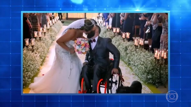 Suzy e Diego se casaram depois do acidente que o deixou paraplégico — Foto: TV Globo