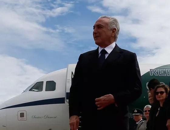 O presidente Michel Temer desembarca na Noruega (Foto: divulgação/Beto Barata/PR)