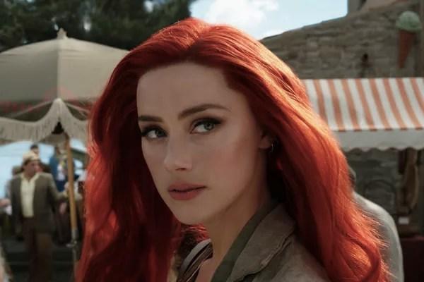 Amber Heard as the character Mera in aquaman scene (2018) (Photo: Reproduction)