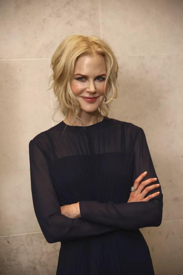 Nicole Kidman posa no Festival de Cinema de Londres — Foto: Joel C Ryan/Invision/AP