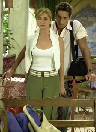 Kaike (Tuca Andrada) e Bárbara (Giovanna Antonelli) (Foto: TV Globo / João Miguel Júnior)