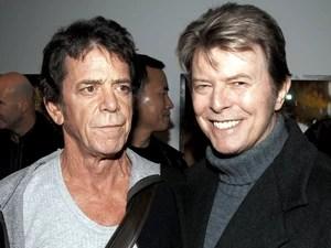 Lou Reed e David Bowie durante abertura de uma exposição de fotografias de Reed na Galeria Hermes, em Nova York, no dia 19 de janeiro de 2006 (Foto: Andrew H. Walker/Getty Images)