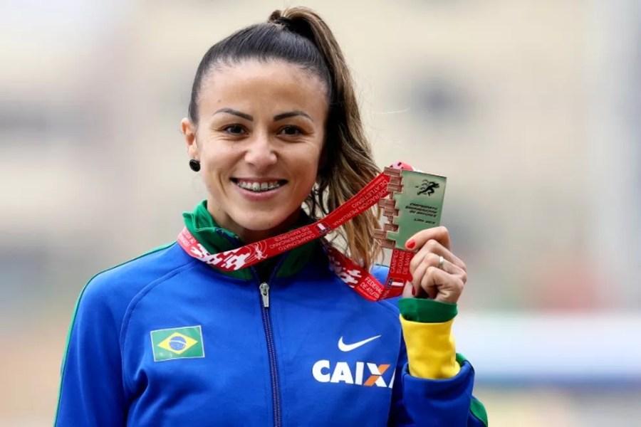 July Ferreira da Silva se destaca no atletismo desde 2010 — Foto: Wagner do Carmo/CBAt