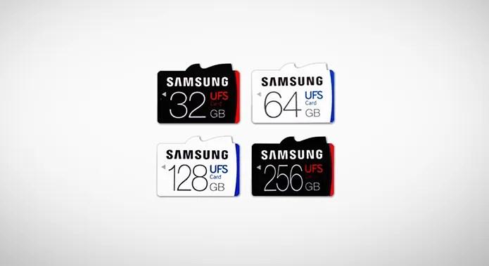 Cartões UFS da Samsung serão lançados com versões de 32 a 256 GB (Foto: Divulgação/Samsung) (Foto: Cartões UFS da Samsung serão lançados com versões de 32 a 256 GB (Foto: Divulgação/Samsung))