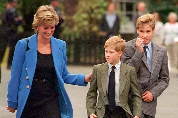 Princess Diana, Prince Harry and Prince William (Photo: Getty Images)