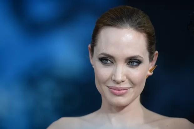 Angelina Jolie na première de Maleficent, em Los Angeles (Foto: AFP)