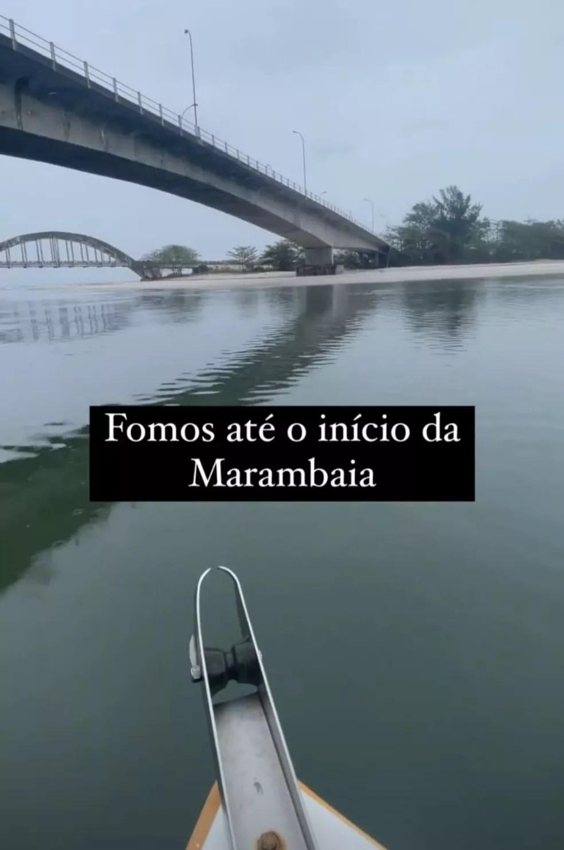 Guilherme esteve na Restinga da Marambaia  — Foto: Reprodução/Redes Sociais