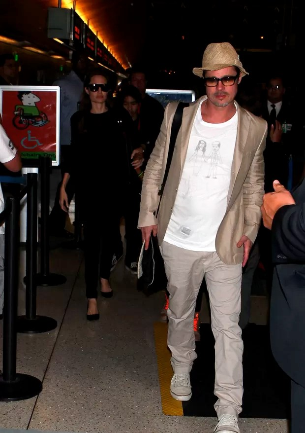 Brad Pitt e Angelina Jolie (Foto: X17/Agência)
