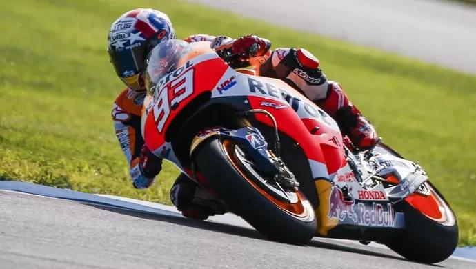 635746553446990692 - Márquez desbanca Pedrosa e Lorenzo e larga na pole do GP de Indianápolis