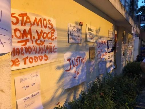 Manifestação em apoio à médica agredida no Grajaú, na Zona Norte do Rio, foi realizada na tarde desta quarta-feira (3) — Foto: Reprodução/Redes sociais